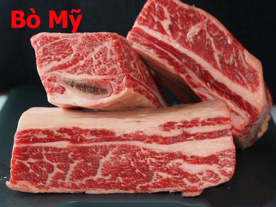 Thịt bò mỹ nhà cung cấp thịt bò: Thịt Sườn Bò Mỹ Có Xương SHORT RIB BONE IN USA
