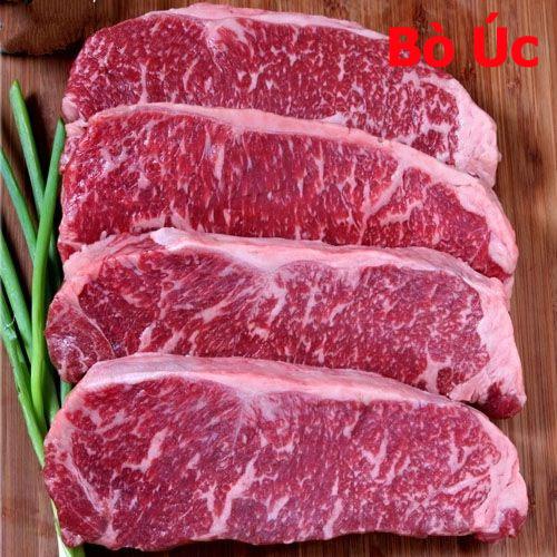 thịt bò mỹ: Thịt Thăn Ngoại Bò Úc Cao Cấp Striploin