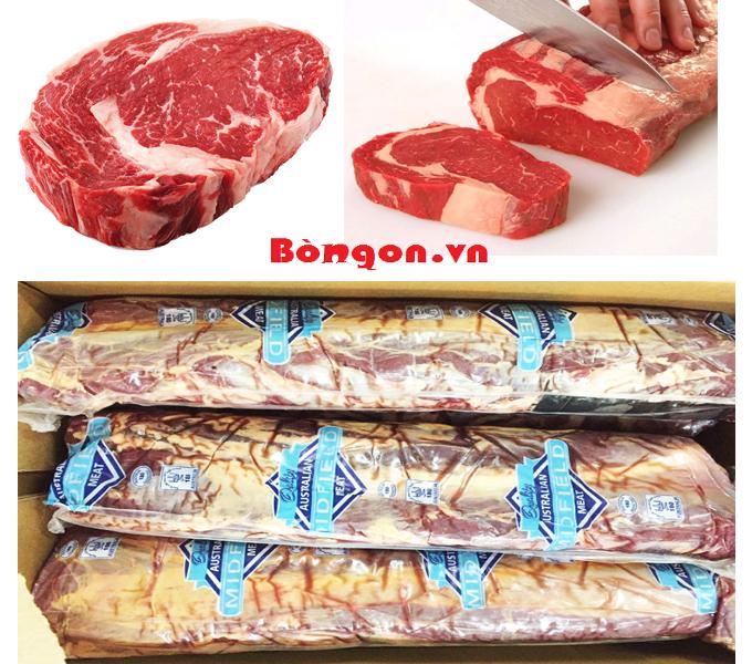 thịt bò mỹ: Ribeye bò Úc tươi