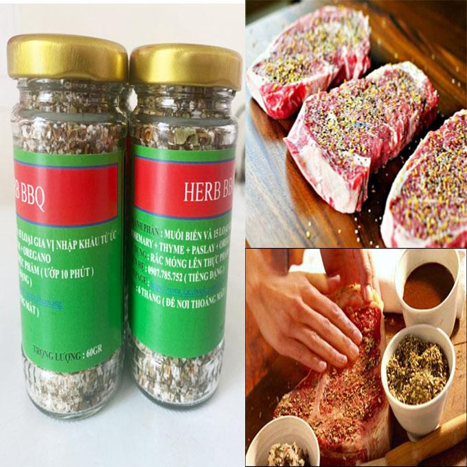 thịt bò mỹ: Muối Ướp Thịt Nướng BBQ Thảo Dược